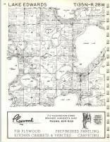 Lake Edwards T135N-R28W, Crow Wing County 1972